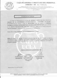 CONVOCATORIA  ASAMBLEA DELEGADOS 2015