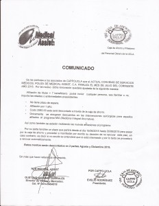 Comunicado Medical Assist