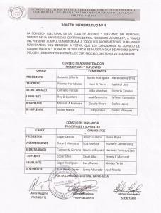 Boletin Informativo Nro 4 Comision Electoral