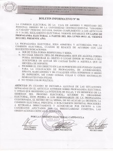 Boletin Informativo Nro 6 (Comision Electoral)