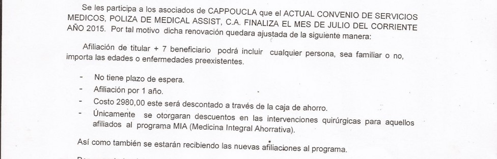 Comunicado  Medical Assist