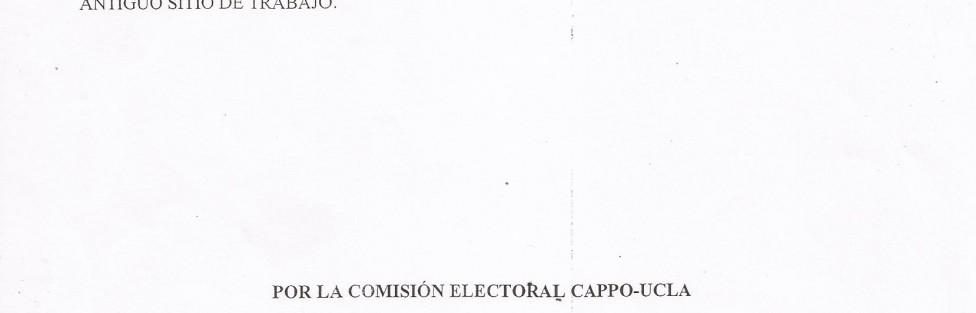Boletin Informativo 8 (Comision Electoral)