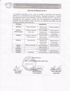 Boletin Informativo Nro 5 (Comision Electoral)