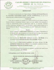 Resolucion Prestamo Farmacia Julio 2016