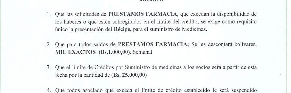 Resolucion Prestamo Farmacia